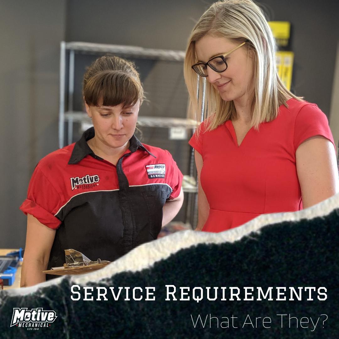 motive-mechanical-service-requirements